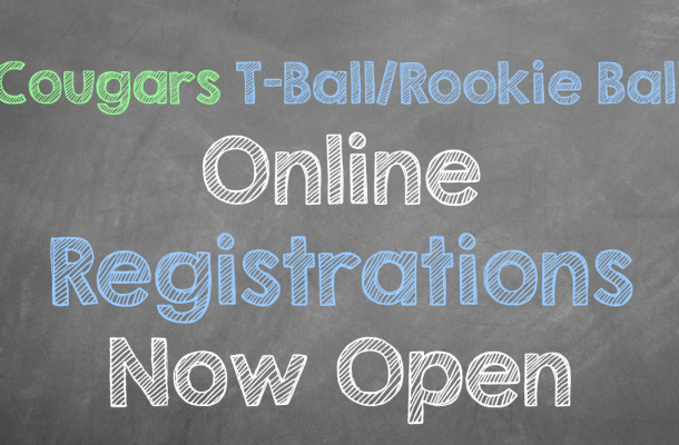 Cougars T-Ball/Rookie Ball Registrations