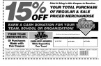 Bridesburg Cougars Modells Coupon